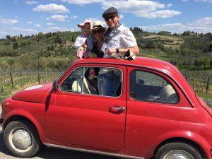 Escapade hors des murs en Fiat 500 Vintage